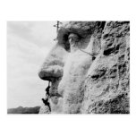 Mount Rushmore construction Post Cards