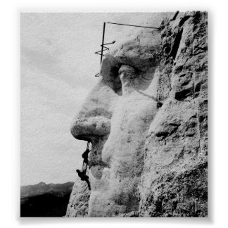 Mount Rushmore construction Posters