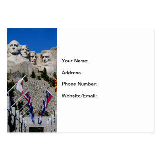Mount Rushmore Customizable Photo Souvenir Large Business Cards (Pack Of 100)