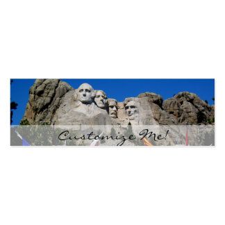 Mount Rushmore Customizable Photo Souvenir Double-Sided Mini Business Cards (Pack Of 20)