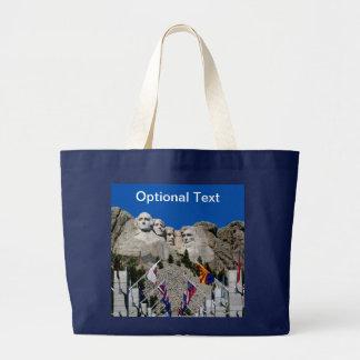 Mount Rushmore Customizable Photo Souvenir Large Tote Bag