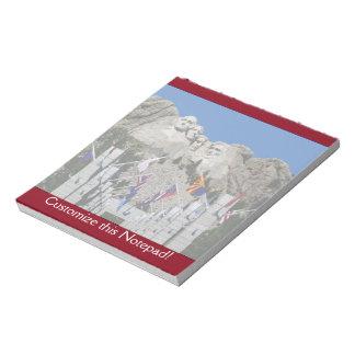 Mount Rushmore Customizable Photo Souvenir Notepad