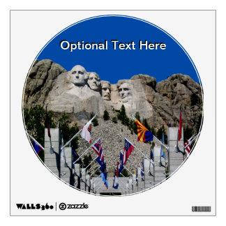 Mount Rushmore Customizable Photo Souvenir Wall Sticker
