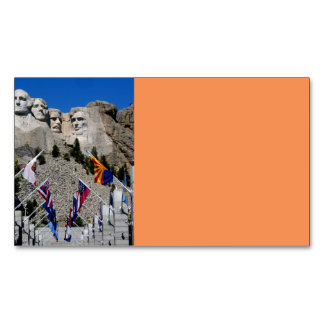 Mount Rushmore Customizable Photo Souvenir Magnetic Business Cards (Pack Of 25)
