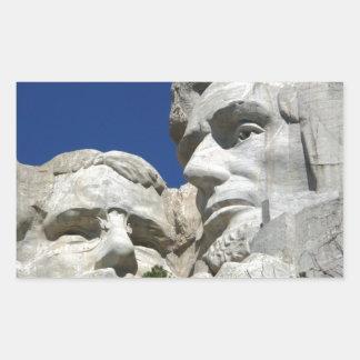 Mount Rushmore Detail Rectangular Sticker