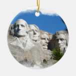 Mount Rushmore Double-Sided Ceramic Round Christmas Ornament