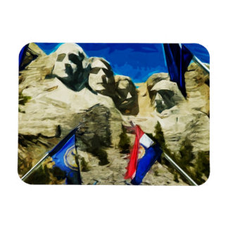 Mount Rushmore From The Hall of States Abstract Magnet