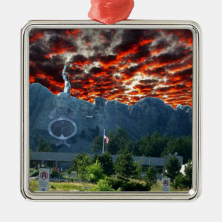 Mount Rushmore Gets a Makeover Metal Ornament
