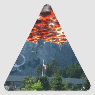 Mount Rushmore Gets a Makeover Triangle Sticker