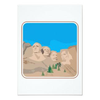 Mount Rushmore 5x7 Paper Invitation Card