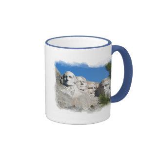 Mount Rushmore Ringer Coffee Mug