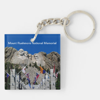 Mount Rushmore National Memorial South Dakota Double-Sided Square Acrylic Keychain