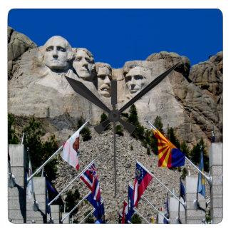 Mount Rushmore National Memorial South Dakota Square Wall Clock