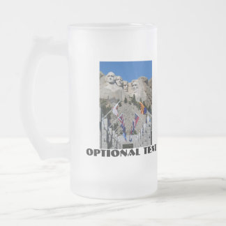 Mount Rushmore National Memorial Souvenir Frosted Glass Beer Mug