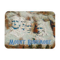 Mount Rushmore National Memorial stylized Magnet