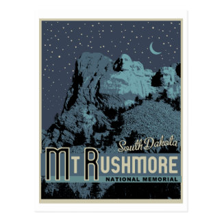 Mount Rushmore National Park Memorial Postcard