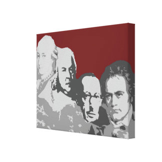 Mount Rushmore of Composers Red Canvas Print