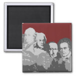 Mount Rushmore of Composers Red Magnet