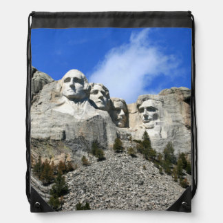 Mount Rushmore on a clear day photo Drawstring Bag
