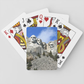 Mount Rushmore on a clear day photo Playing Cards