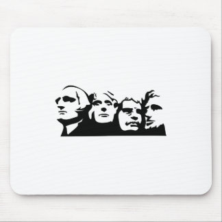 Mount Rushmore Outline Mouse Pad