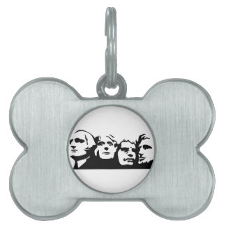 Mount Rushmore Outline Pet Tag