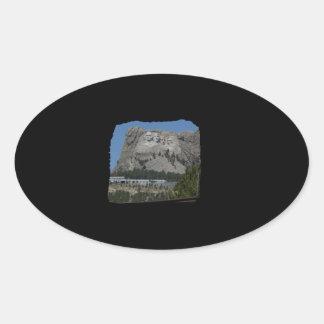 Mount Rushmore Oval Sticker