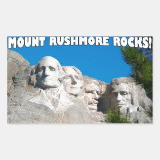 Mount Rushmore Rocks! Mount Rushmore, South Dakota Rectangular Sticker