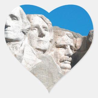 Mount Rushmore Rocks! Mount Rushmore, South Dakota Heart Stickers