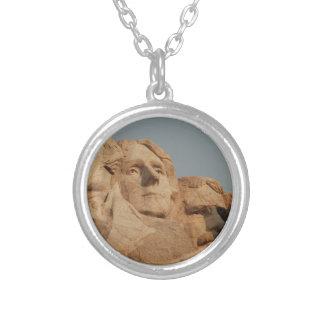 Mount Rushmore Round Pendant Necklace