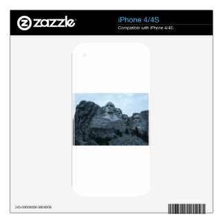 Mount Rushmore Skin For iPhone 4