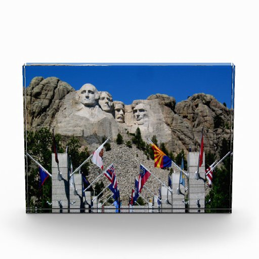 Mount Rushmore South Dakota Flag Souvenir Acrylic Award
