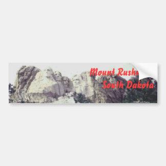 Mount Rushmore, South Dakota Scenic Bumper Sticker Car Bumper Sticker