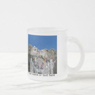 Mount Rushmore South Dakota Souvenir Frosted Glass Coffee Mug