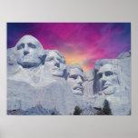 Mount Rushmore, South Dakota, USA Presidents Poster