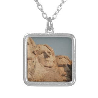 Mount Rushmore Square Pendant Necklace