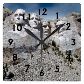 Mount Rushmore Square Wall Clock