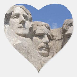 Mount Rushmore Heart Sticker