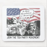 Mount Rushmore Tea Party Gear Mouse Pad