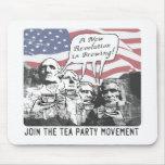 Mount Rushmore Tea Party Gear Mousepads