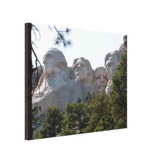 Mount Rushmore Through The Trees Stretched Canvas