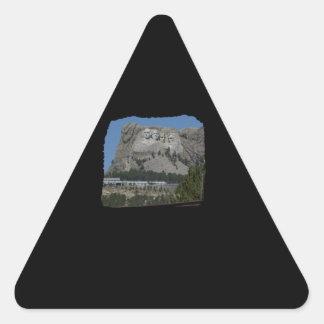 Mount Rushmore Triangle Sticker