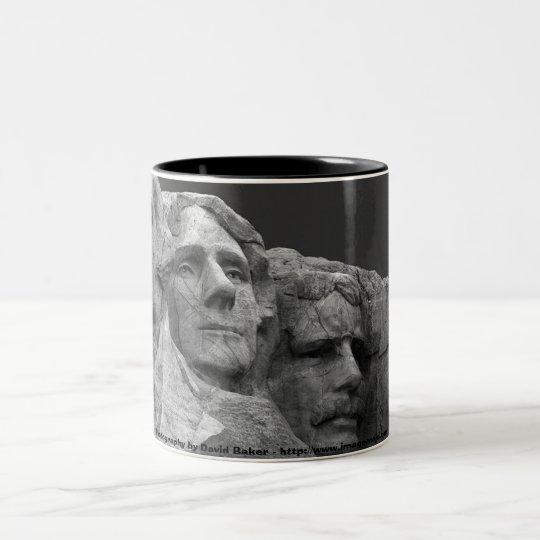 Mount Rushmore Two-Tone Coffee Mug