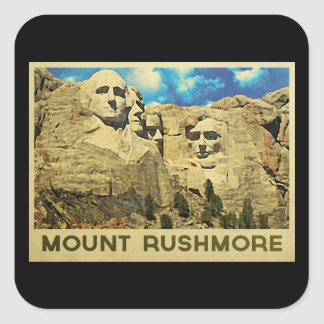 Mount Rushmore Vintage Square Sticker