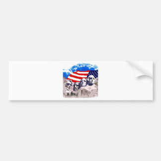 Mount Rushmore with American Flag Bumper Sticker