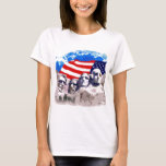 Mount Rushmore with American Flag T-Shirt