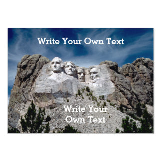Mount Rushmore - Write Your Own Text Card