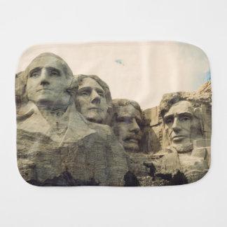 Mount Rushmore Baby Burp Cloth