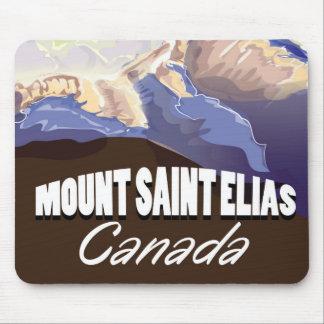 Mount Saint Elias Vintage Travel Poster Mouse Pad