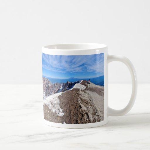 Mount Saint Helens Stratovolcano Summit Panorama Mugs
